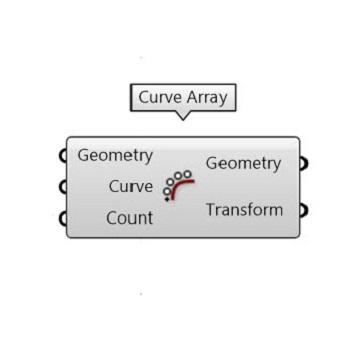 دستور Curve Array از منوی Transform و زیر منوی Array امکان تکثیر هندسه حول یک منحنی را می دهد.با کمک این دستور می توانید هندسه و تعداد آن را به راحتی کنترل کنید
