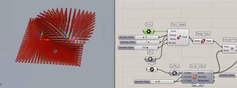 در این آموزش با کمک بخش fields بحث ایجاد میدان مغناطیسی در گرس هاپر آموزش داده می شود. با کمک پلاگین های مربوطه نیز می توان خطوط میدان را به صورت سه بعدی و دوه بعدی ایجاد کرد