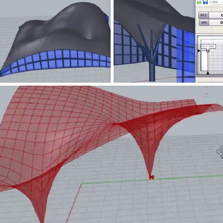 در این آموزش نحوه مدلسازی سازه پارچه ای با قیود پلاستیک ، تکیه گاه لغزشی و نحوه مدلسازی ستون درختی آموزش داده می شود