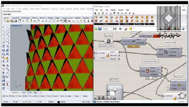 در این بخش استفاده از عامل جذب و کار بر روی گوشه ها با یک مثال مدلسازی تشریح می گردد.