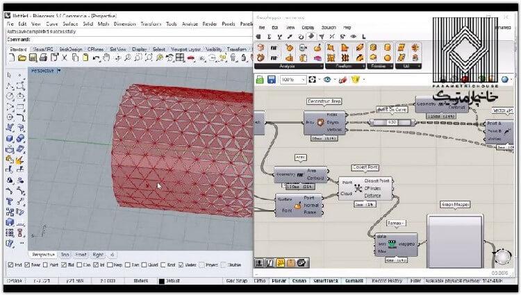 در این بخش با استفاده از عامل جذب و استخراج داده هایی هندسی داخل سطوح هندسه های جدید تولید می شوند.