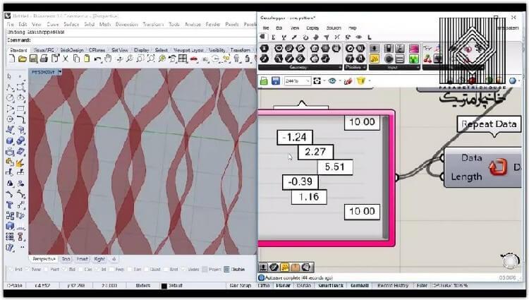 در این بخش در ادامه ی مبحث سینوس، نحوه تکثیر هندسه با تکرار داده آموزش داده شده است.