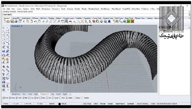 در این بخش نحوه ایجاد سازه های نواری و در واقع کار با منحنی های ایزو تشریح می گردد.