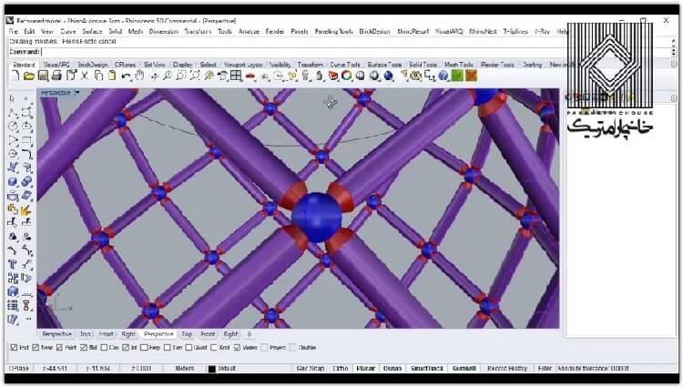 در این بخش مدلسازی خرپاو سازه فضاکار به هماره ایجاد دیتیلینگ مقدماتی آموزش داده می شود.