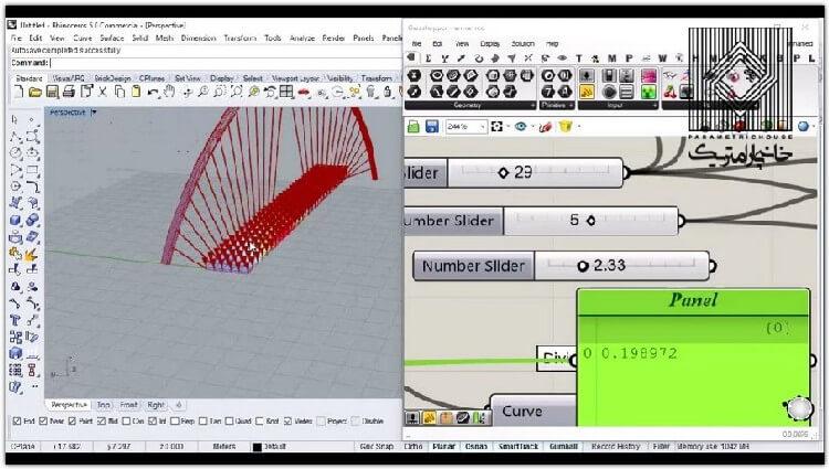 در این بخش یک پروژه پل کابلی با کمک افزونه millipede مدلسازی و تحلیل می شود.