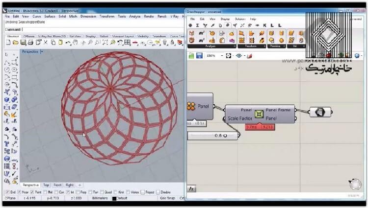 در این بخش تکنیک استفاده از پنل برای سطوح با یک درز توضیح داده می شود.