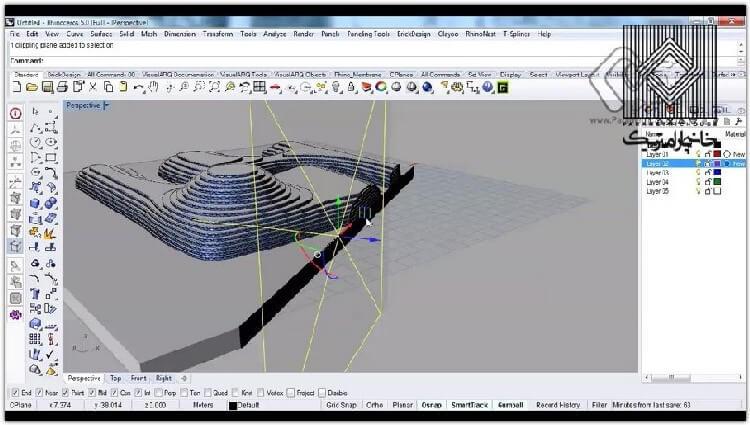 در این بخش استفاده از پلاگین Cocoon برای تولید شارژهای مختلف و مدلسازی یک پروژه معماری گونه تشریح شده است.