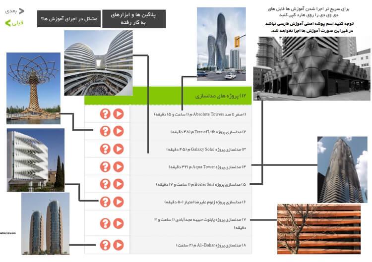 در این بخش ساختمان های معروف داخل و خارج با کمک گرس هاپر مدلسازی می شوند