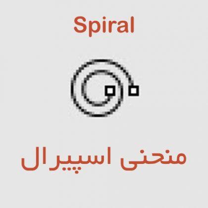 با کمک دستورspiralدر راینو می توانید یک منحنی اسپیرال را در سه حالت ترسیم کنیداسیپرال دارای گزینه هایی مانند تعیین تعداد دور و یا گام(فاصله بین یک گردش کامل)است