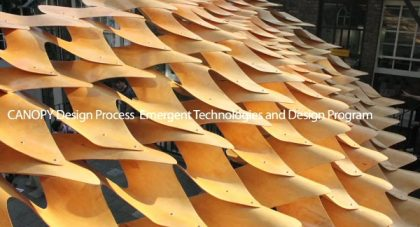 طراحی و ساخت سایبان گروه تکنولوژی های در حال گسترش دانشگاه AA