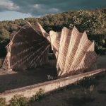 ساخت پاویون چوبی با استفاده از ربات