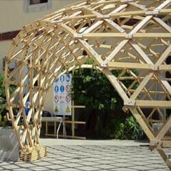سازه پوسته ای مشبک چوبی