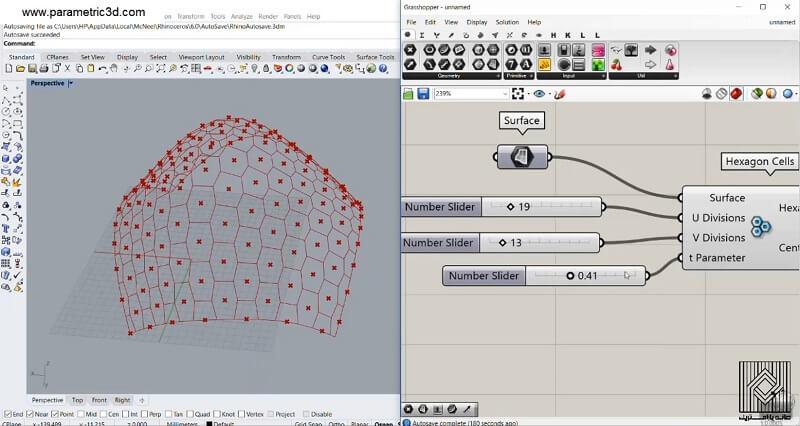 مسطح سازی پنل های شش ضلعی غیر منتظم