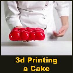 تزیین کیک با استفاده از پرینتر سه بعدی