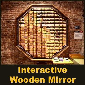 آینه چوبی اینتراکتیو