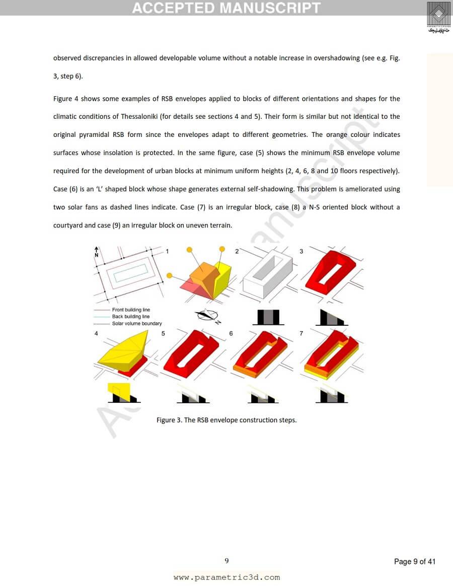 مقاله Residential Solar Block Envelope