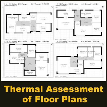 مقاله Design and thermal assessment of floor plans