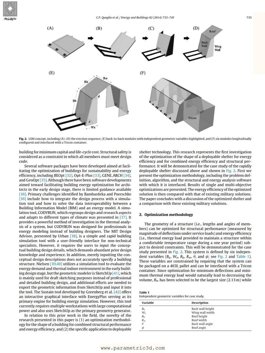 مقاله Origami Inspired Shelter