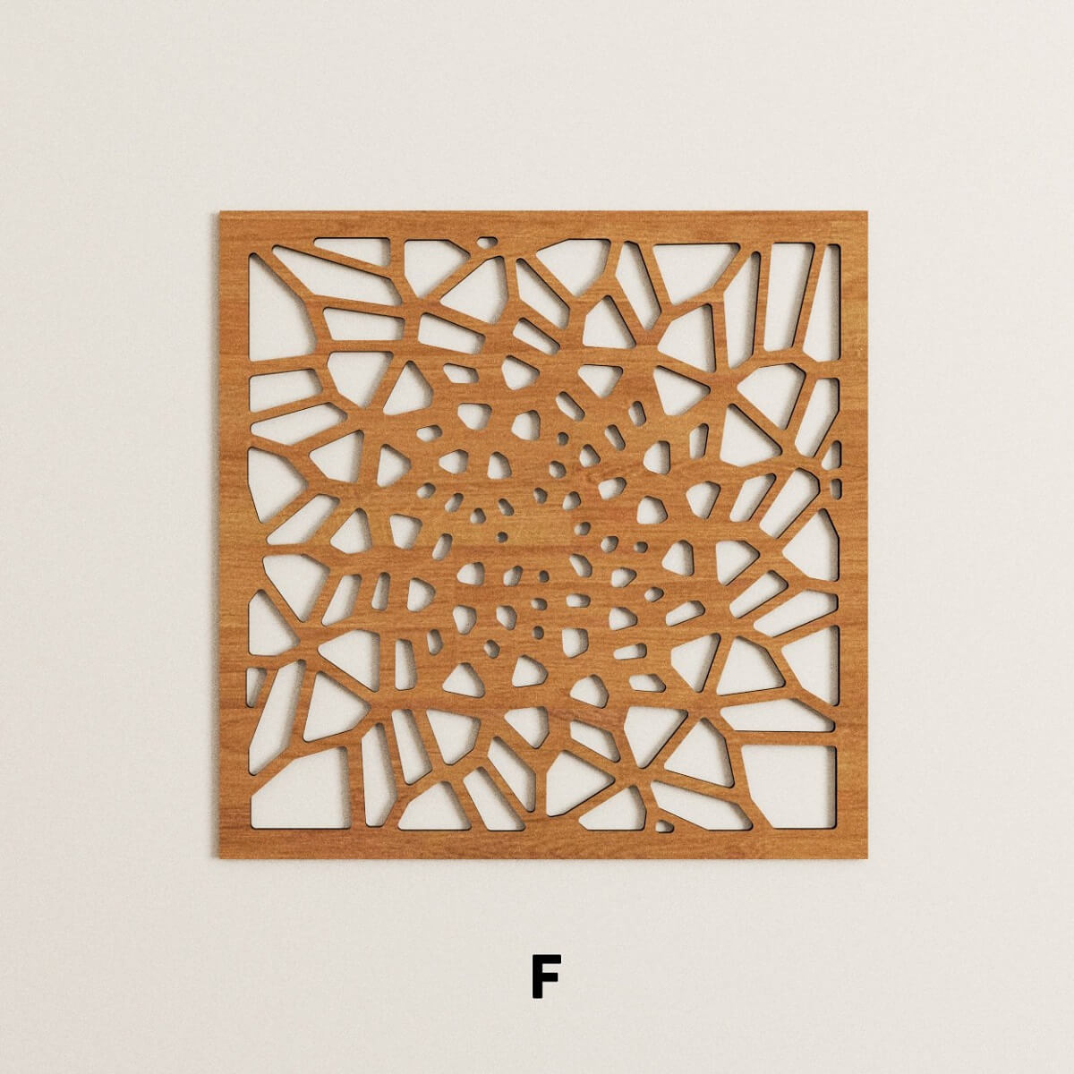 Parametric laser cut wooden panels