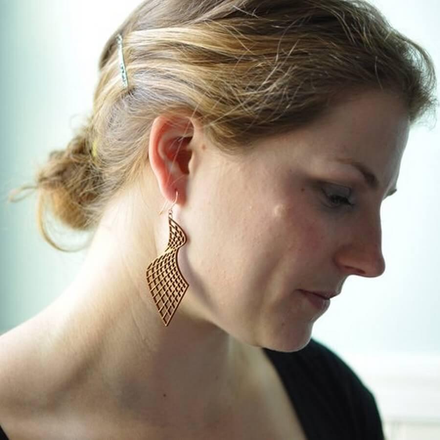 Wooden Earrings #2 - Laser Cutting Designs & Ideas