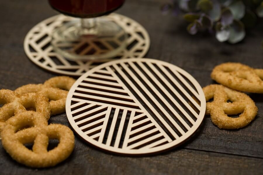 Wooden Coasters #2 - Laser Cutting Designs & Ideas
