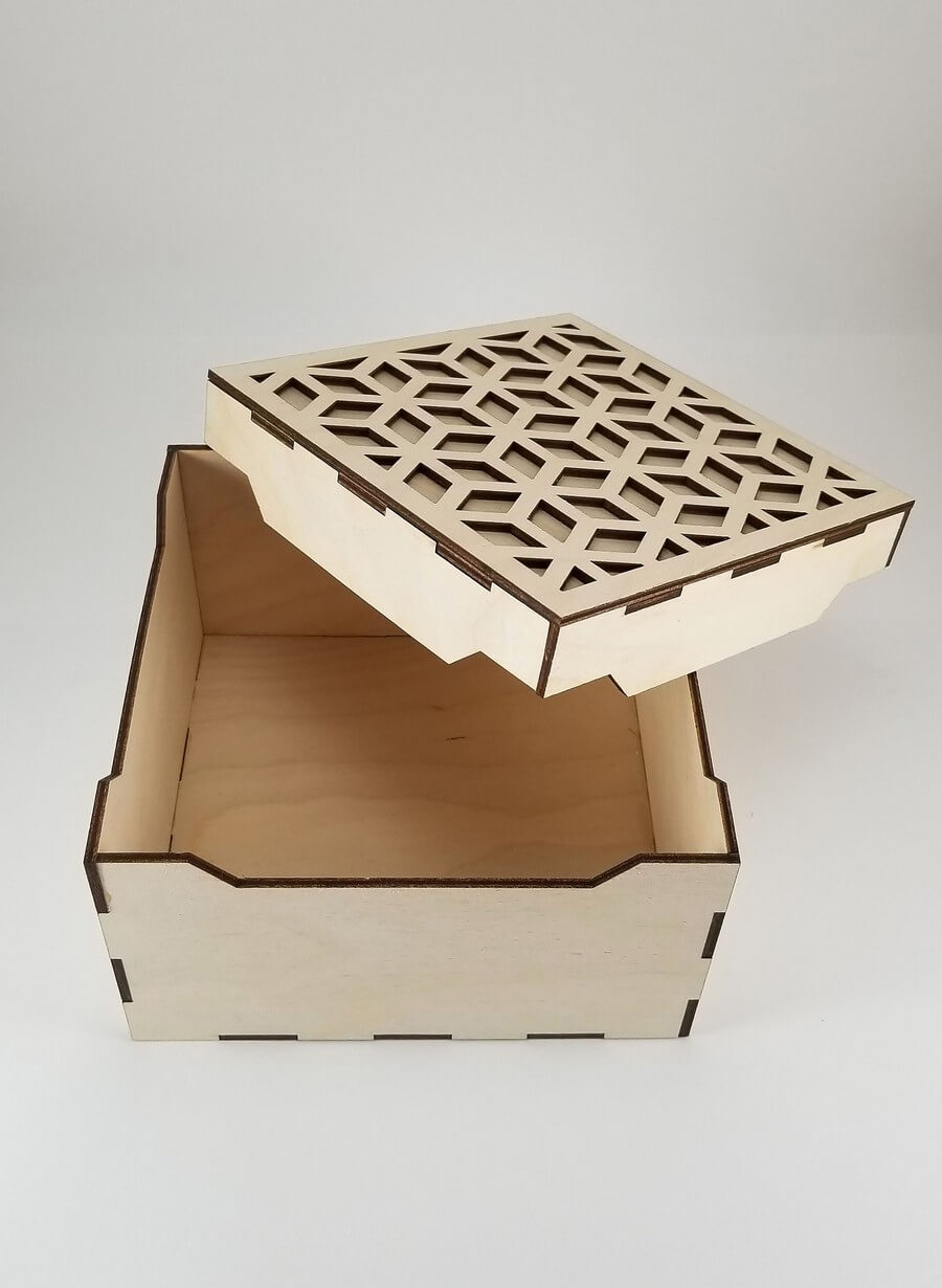 Wooden Box #1 - Laser Cutting Designs & Ideas