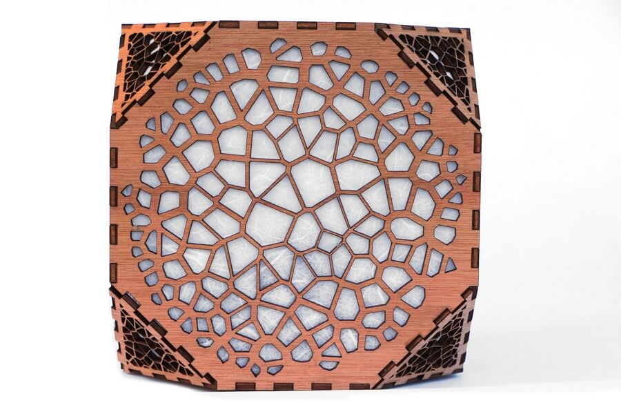 Wooden Floor Lamp #2 - Laser Cutting Designs