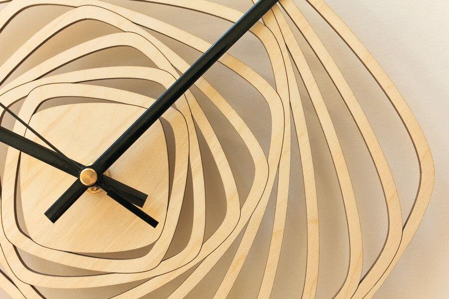 Wooden Wall Clock #3 - Laser Cutting Designs