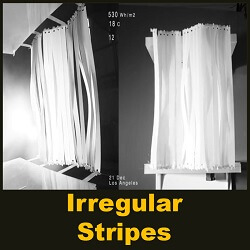 "Kinetic facade ""Irregular stripes"""
