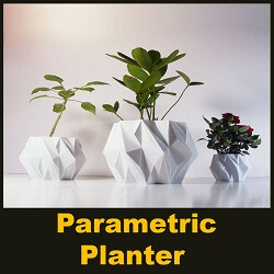 parametric 3d printed planters