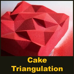 Cake Lime-basil triangulation