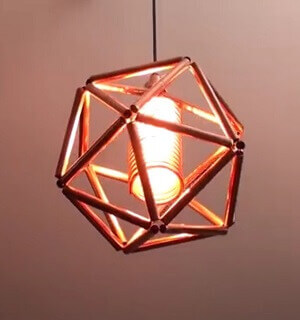 Pipe Geometric Lamp