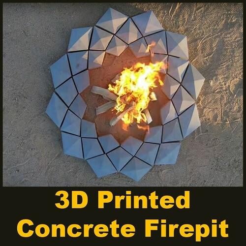 3D Printed Concrete Firepit - Parametric Design