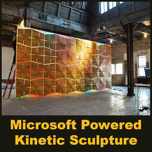 Microsoft Powered Kinetic Sculpture - Parametric Design