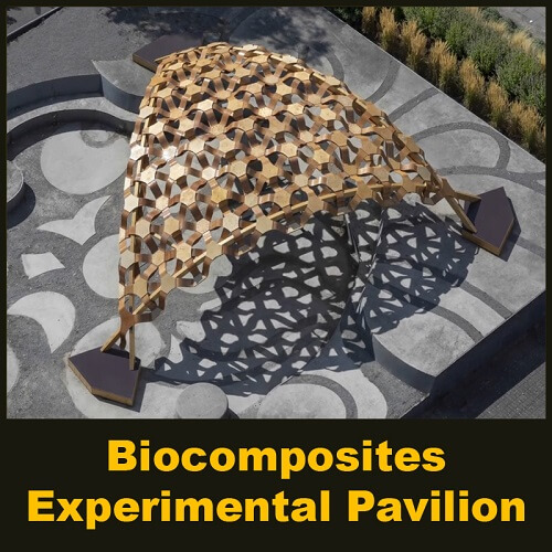 Biocomposites Experimental Pavilion by BioMat Group