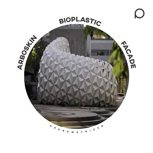 ArboSkin Bioplastic Facade - Parametric Design