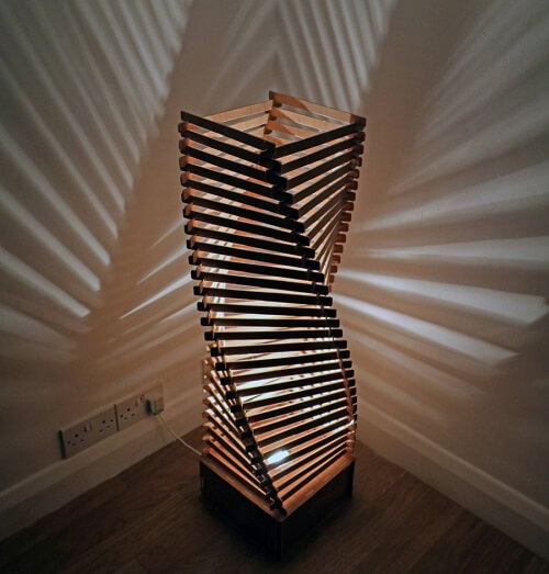 Wooden Floor Lamp #1 - Laser Cutting Designs