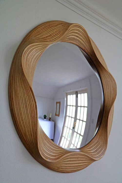 Wooden Wall Mirror #1 - Laser Cutting Designs & Ideas