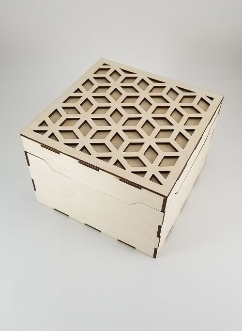 Wooden Box #1 - Laser Cutting Designs & Ideas