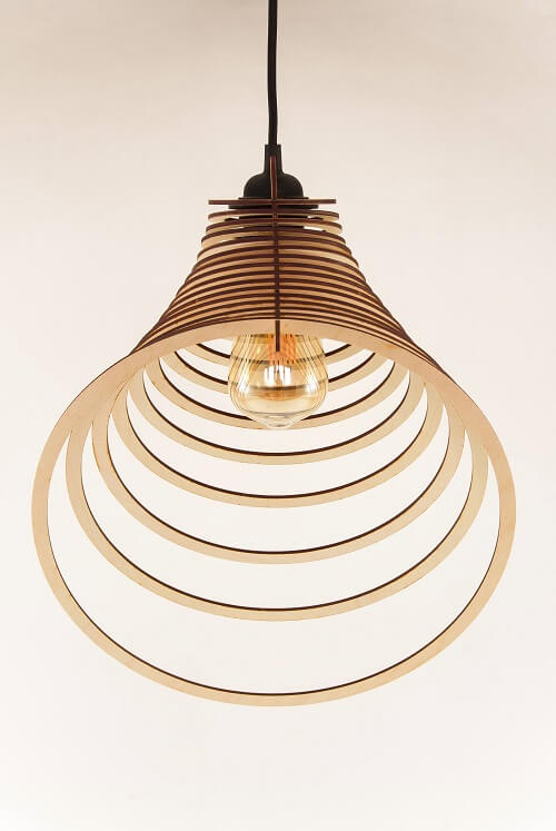 Wooden Pendant Lamp #1: Laser Cutting Designs & Ideas