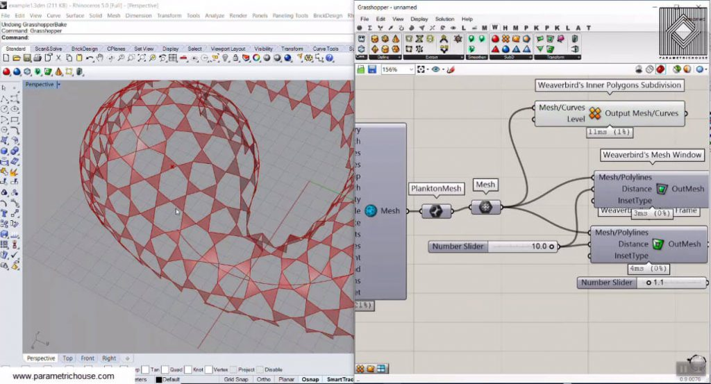Weaverbird Grasshopper | Parametric House