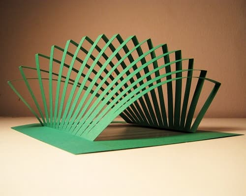 Kinetic Architecture #2 - Kirigami Paper Art